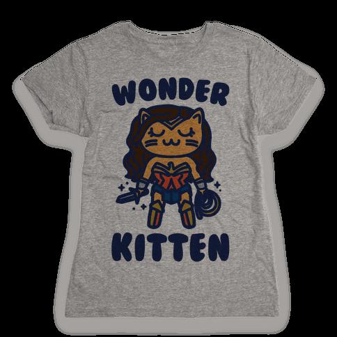 Wonder Kitten Parody Womens T-Shirt