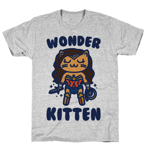 Wonder Kitten Parody Mens T-Shirt