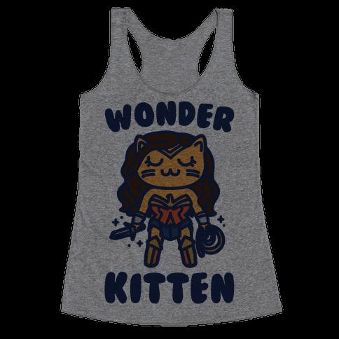 Wonder Kitten Parody Racerback Tank Top