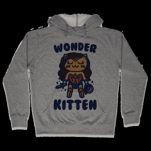 Wonder Kitten Parody Hooded Sweatshirt