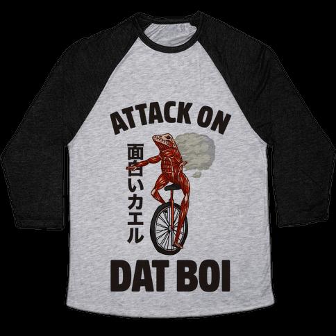 Attack on Dat Boi Baseball Tee