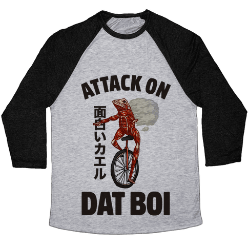 Attack on Dat Boi Baseball Tee