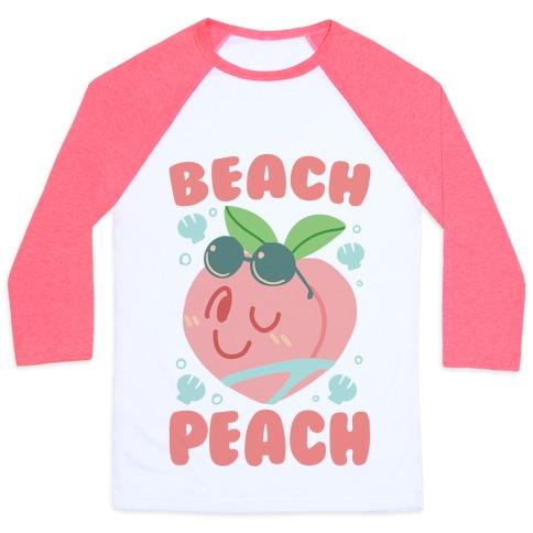 Beach Peach Baseball Tee