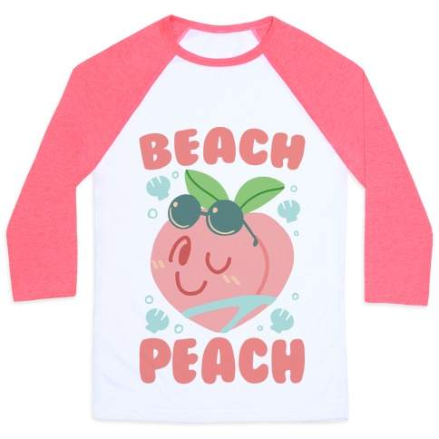 Beach Peach Baseball Tee