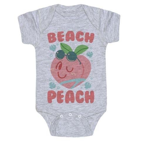 Beach Peach Baby Onesy