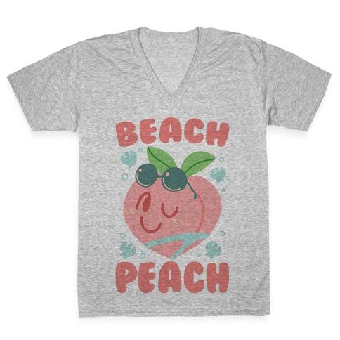 Beach Peach V-Neck Tee Shirt