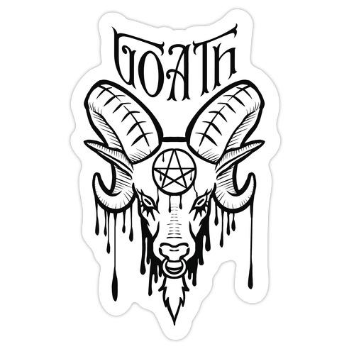 Goath Die Cut Sticker