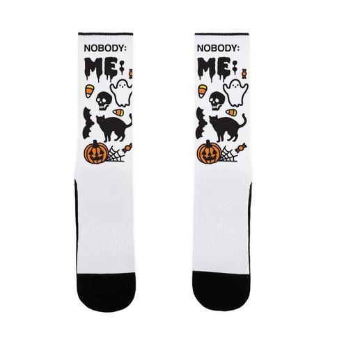 Nobody: Me: HALLOWEEN Sock