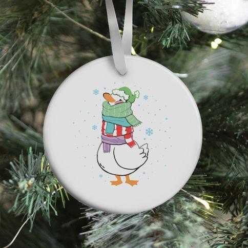 Scarf Duck Ornament