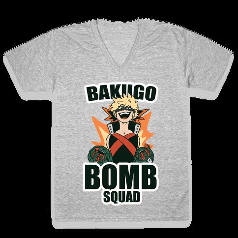 Bakugo Bomb Squad V-Neck Tee Shirt