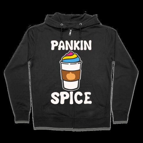 Pankin Spice Parody White Print Zip Hoodie