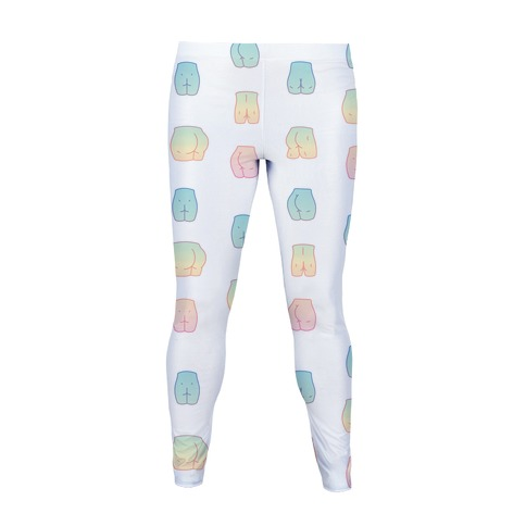 Pastel Butt Pattern Women's Legging