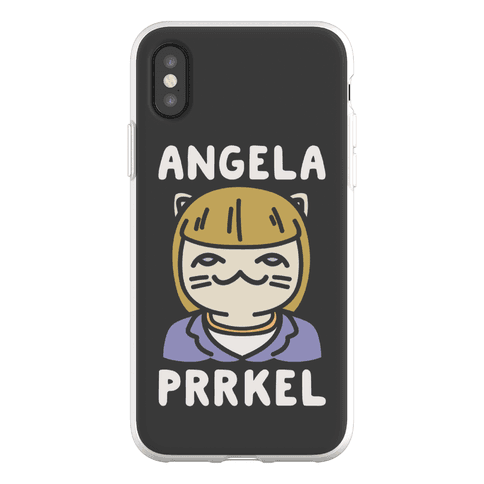 Angela Prrkel Parody Phone Flexi-Case