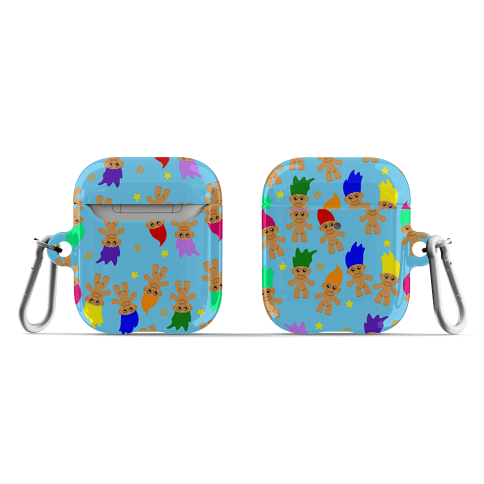 Rainbow Troll Pattern AirPod Case