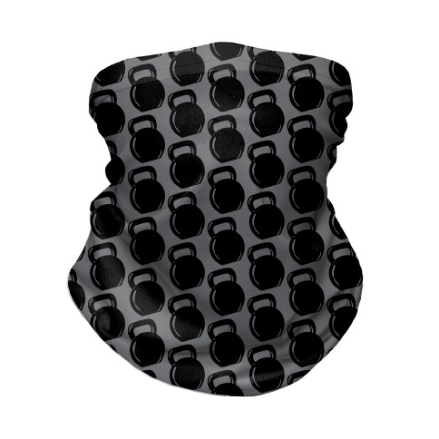 Kettlebell Pattern (Grey Background) Neck Gaiter