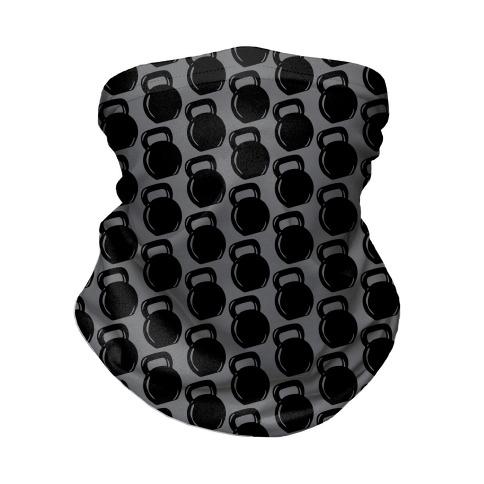 Kettlebell Pattern (Grey Background) Neck Gaiter