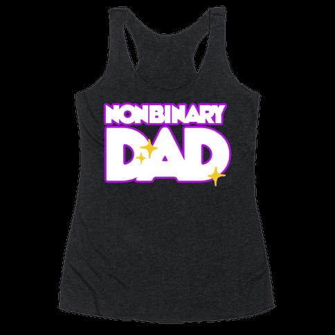 Nonbinary Dad Racerback Tank Top