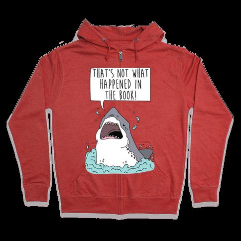 Book Shark Zip Hoodie