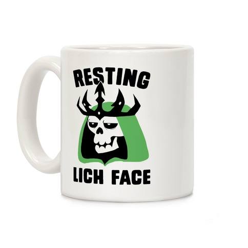 Resting Lich Face Coffee Mug