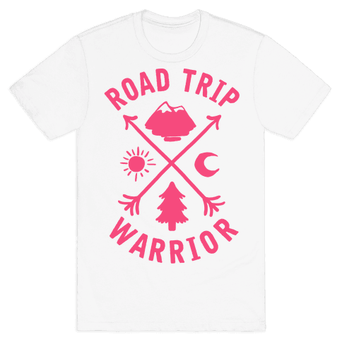 Road Trip Warrior (Pink) Mens T-Shirt
