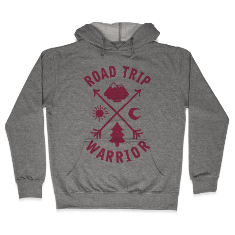 Road Trip Warrior (Pink) Hooded Sweatshirt