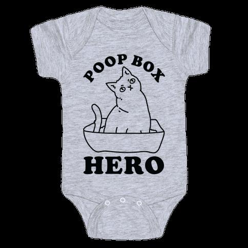 Poop Box Hero Baby Onesy