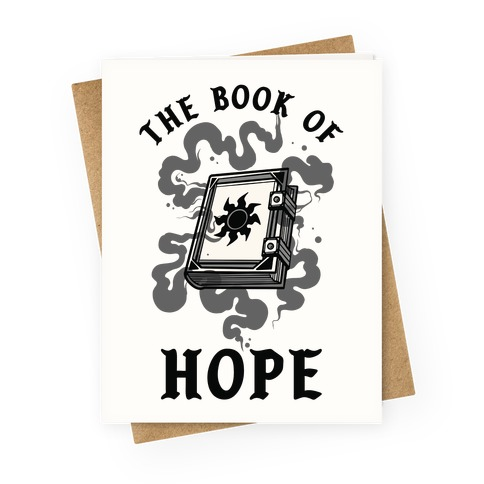The Book Of Hope White Magic Greeting Card