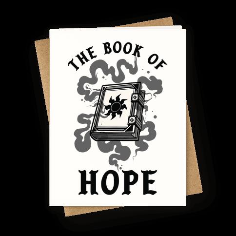 The Book Of Hope White Magic Greeting Card