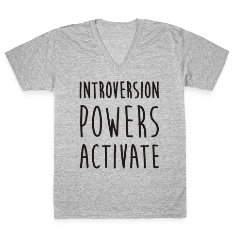 Introversion Powers Activate V-Neck Tee Shirt