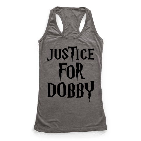 Justice For Dobby Parody Racerback Tank Top