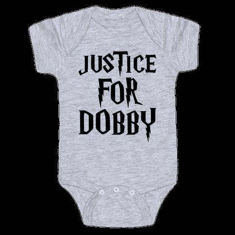 Justice For Dobby Parody Baby Onesy