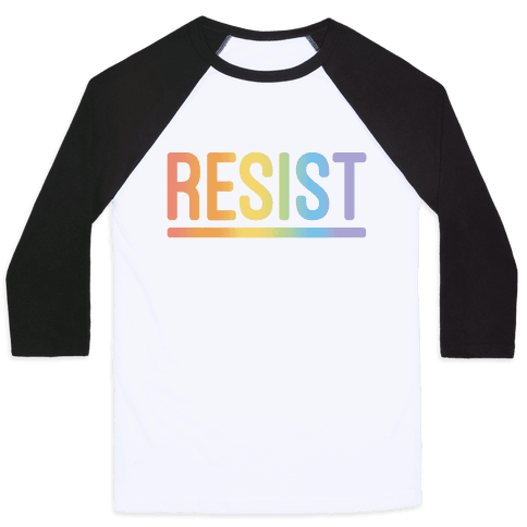 Rainbow Resist Baseball Tee