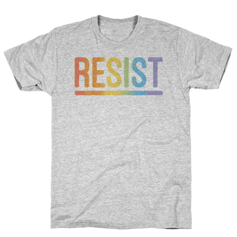 Rainbow Resist Mens T-Shirt