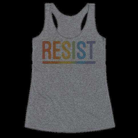 Rainbow Resist Racerback Tank Top