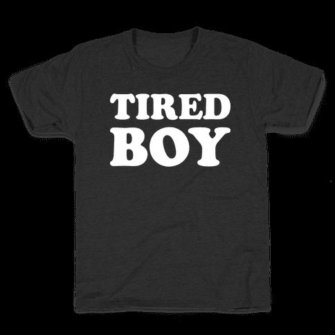 Tired Boy Kids T-Shirt