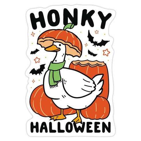 Honky Halloween Die Cut Sticker