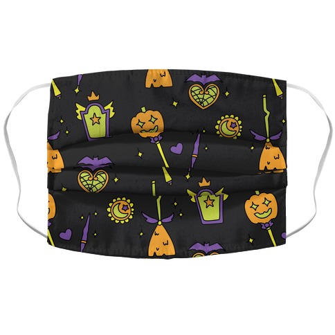 Halloween Magical Girl Pattern Accordion Face Mask