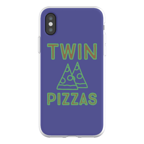 Twin Pizzas Parody Phone Flexi-Case