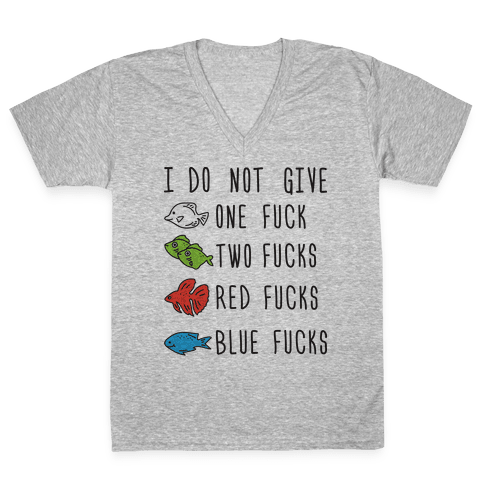 Red F***s Blue F***s Parody V-Neck Tee Shirt