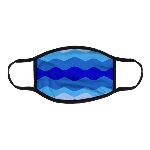 Blue Waves Flat Face Mask