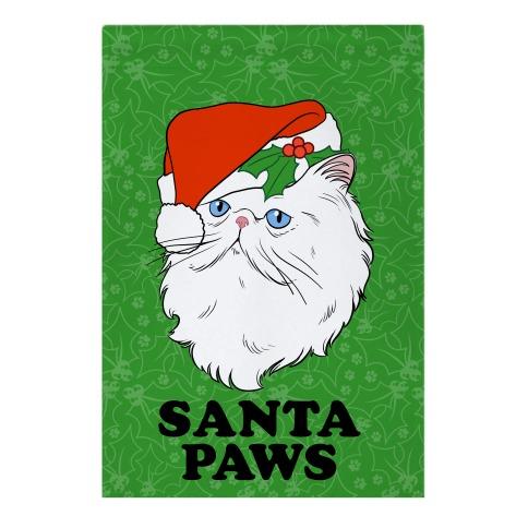 Santa Paws Garden Flag