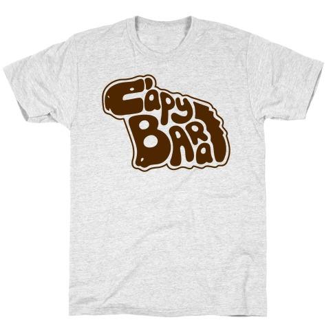Capybara Font Illustration T-Shirt