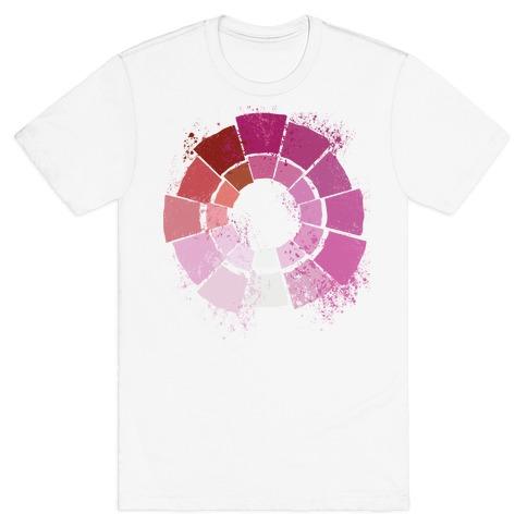 Lesbian Pride Color Wheel T-Shirt