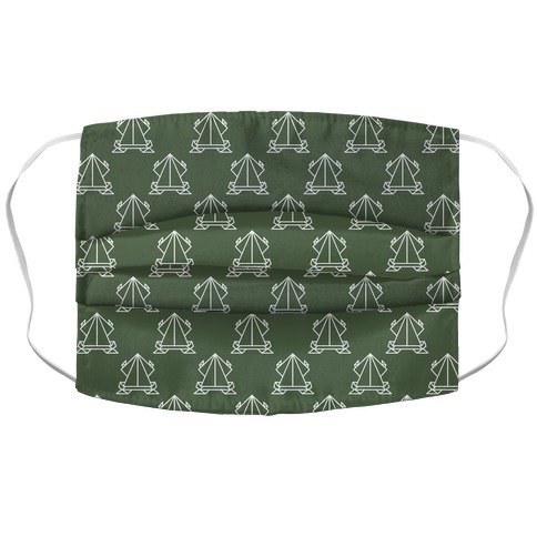 Origami Frog Pattern Chive Green Accordion Face Mask