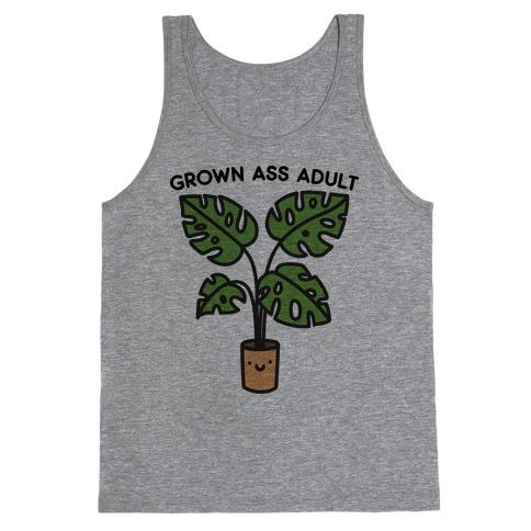 Grown Ass Adult Monstera Tank Top