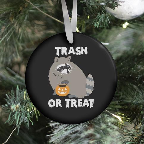 Trash Or Treat Raccoon Ornament