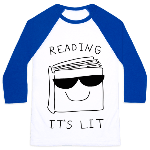 Reading It's Lit Baseball Tee