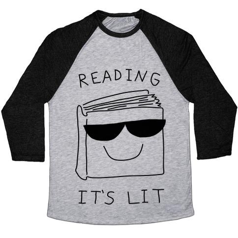 848e9013c4a Reading It s Lit Baseball Tee