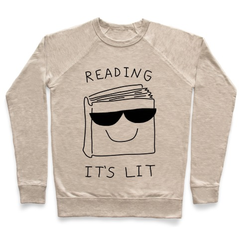 Reading It's Lit Pullover