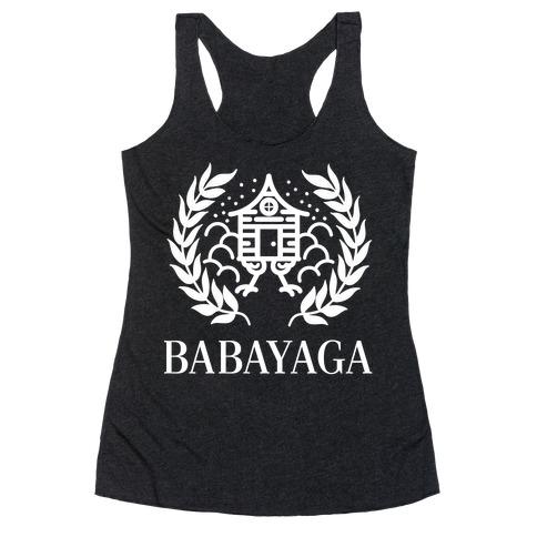 Baba Yaga Balenciaga Parody Racerback Tank Top